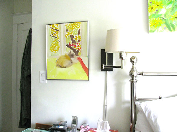 Paintings brighten a room.JPG