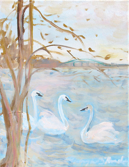 #1320 Three Swans Swimming final version