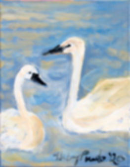 #1820 The Happy couple, 14 x 11 inches,