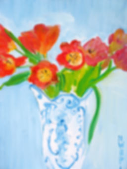 0319 Valentine's Day Flowers, oil on can