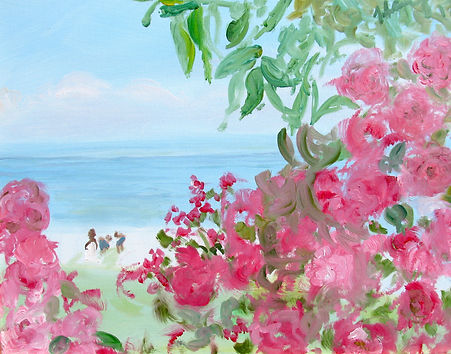 #1519 Roses by the Shore, 16 x 20 inches