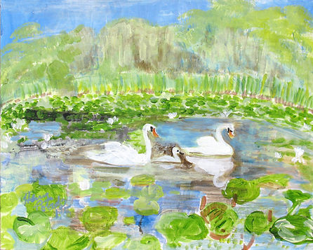 7.3318, Perfection, Will, Words, Swans, 175, acrylic on canvas panel.jpg