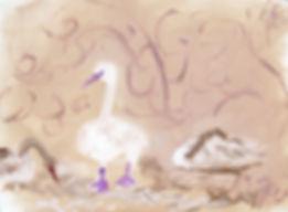 #2420,Majestic_Swans,_15_½_x_19_½_inch