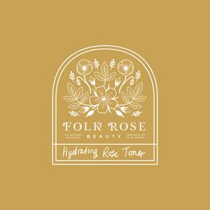 Logo design for Folk Rose Beauty - natural skincare products