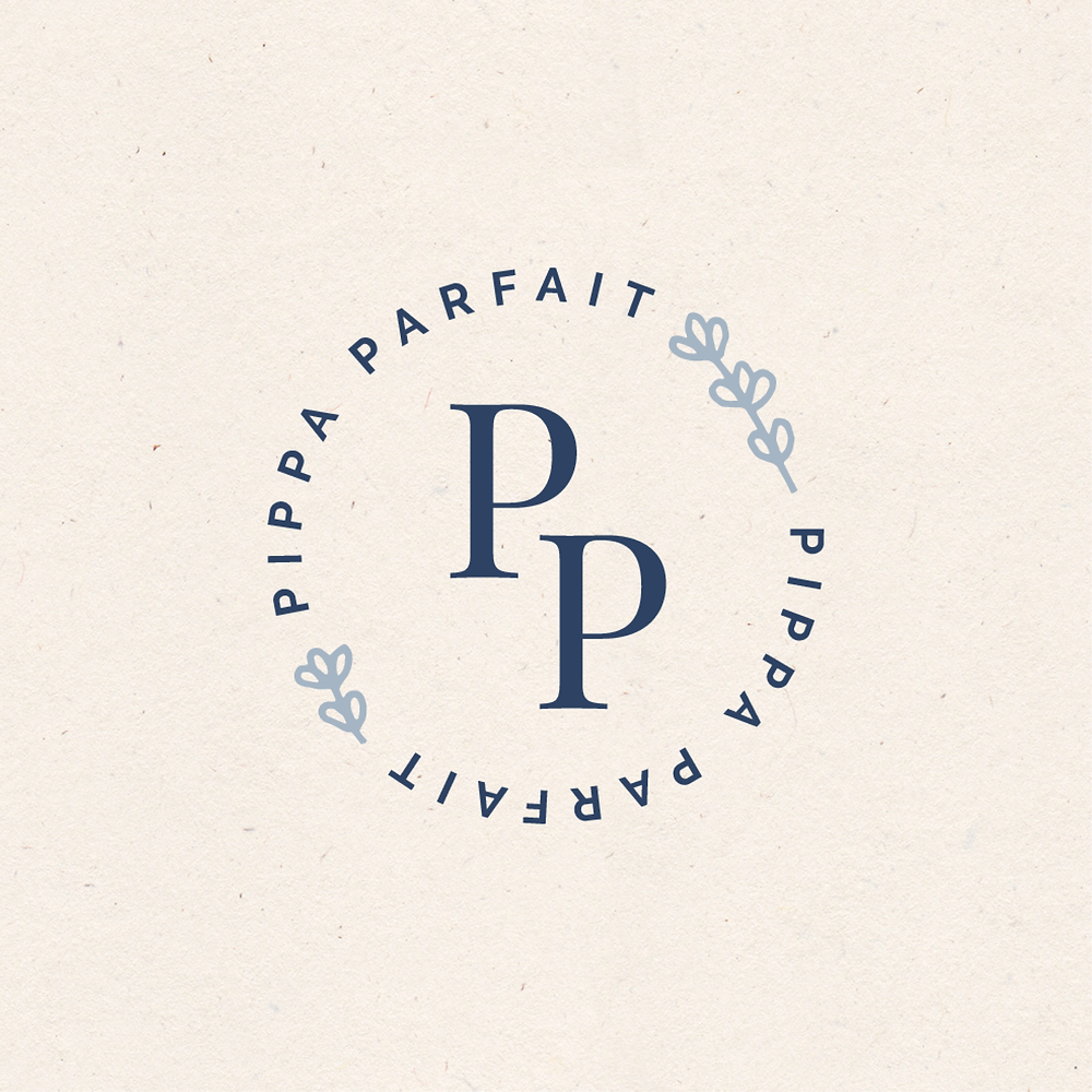 Circular logo design for Pippa Parfait | logo and branding design for creative ladies and small businesses