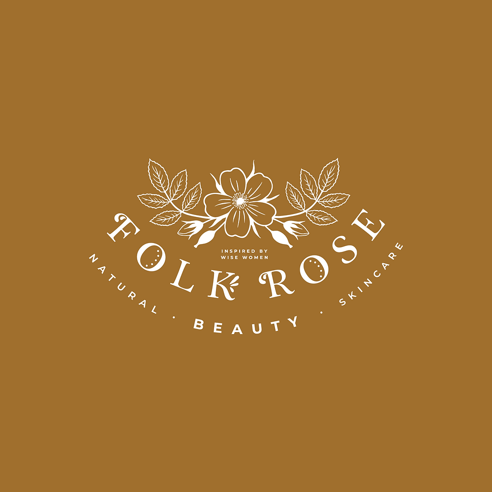 Logo design for Folk Rose Beauty - natural skincare products