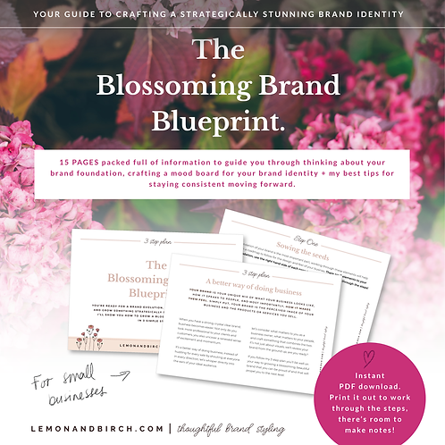 Blossoming Brand Blueprint - Your guide to crafting a meaningful brand identity