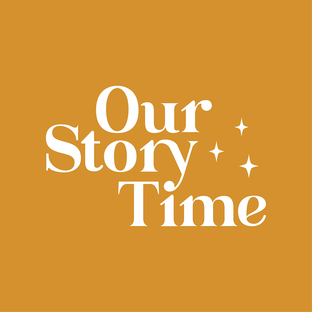 secondary logo design with customised typography for Our Story Time | logo and branding design for creative ladies and small businesses