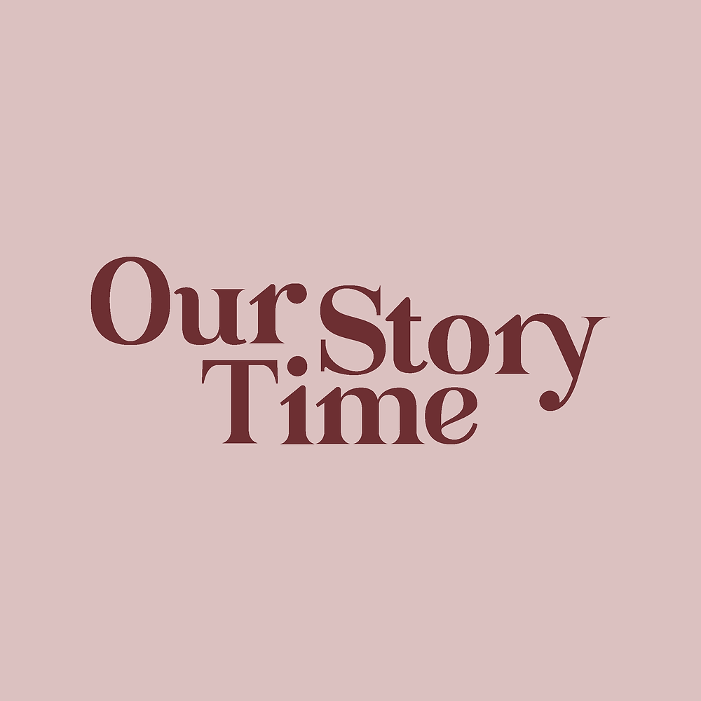 Logo type for Our Story Time, online shop | logo and branding design for creative ladies and small businesses