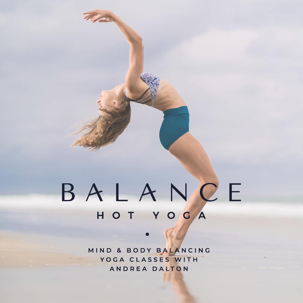 Balance Hot Yoga logo design - logo and brand design by Lemon & Birch