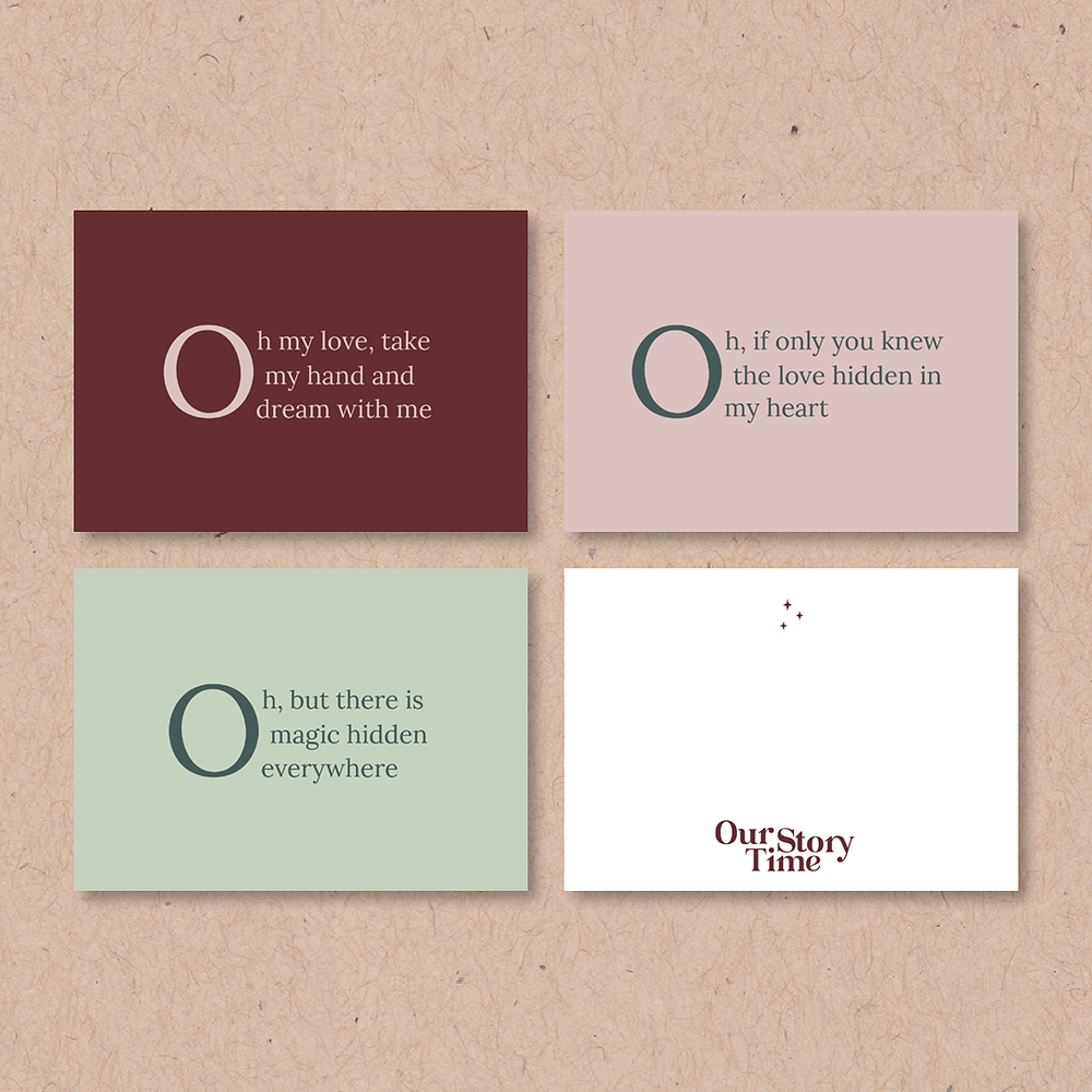 Thank you card designs for Our Story Time | logo and branding design for creative ladies and small businesses