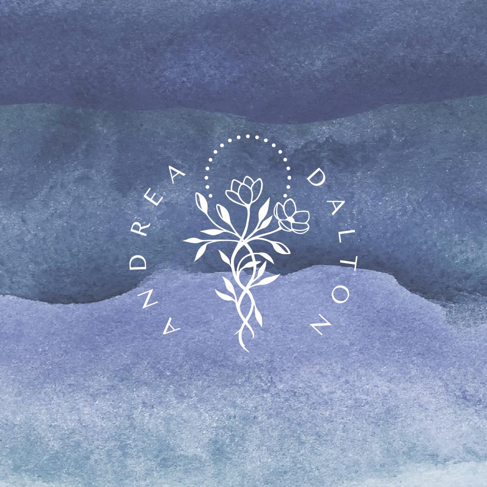 Logo and brand design for Andrea Dalton Wellness - hand drawn logo design