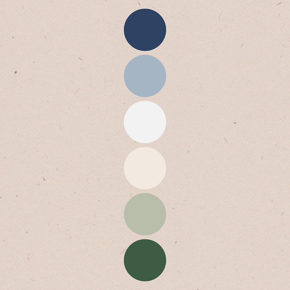 Colour palette for Pippa Parfait | logo and branding design for creative ladies and small businesses