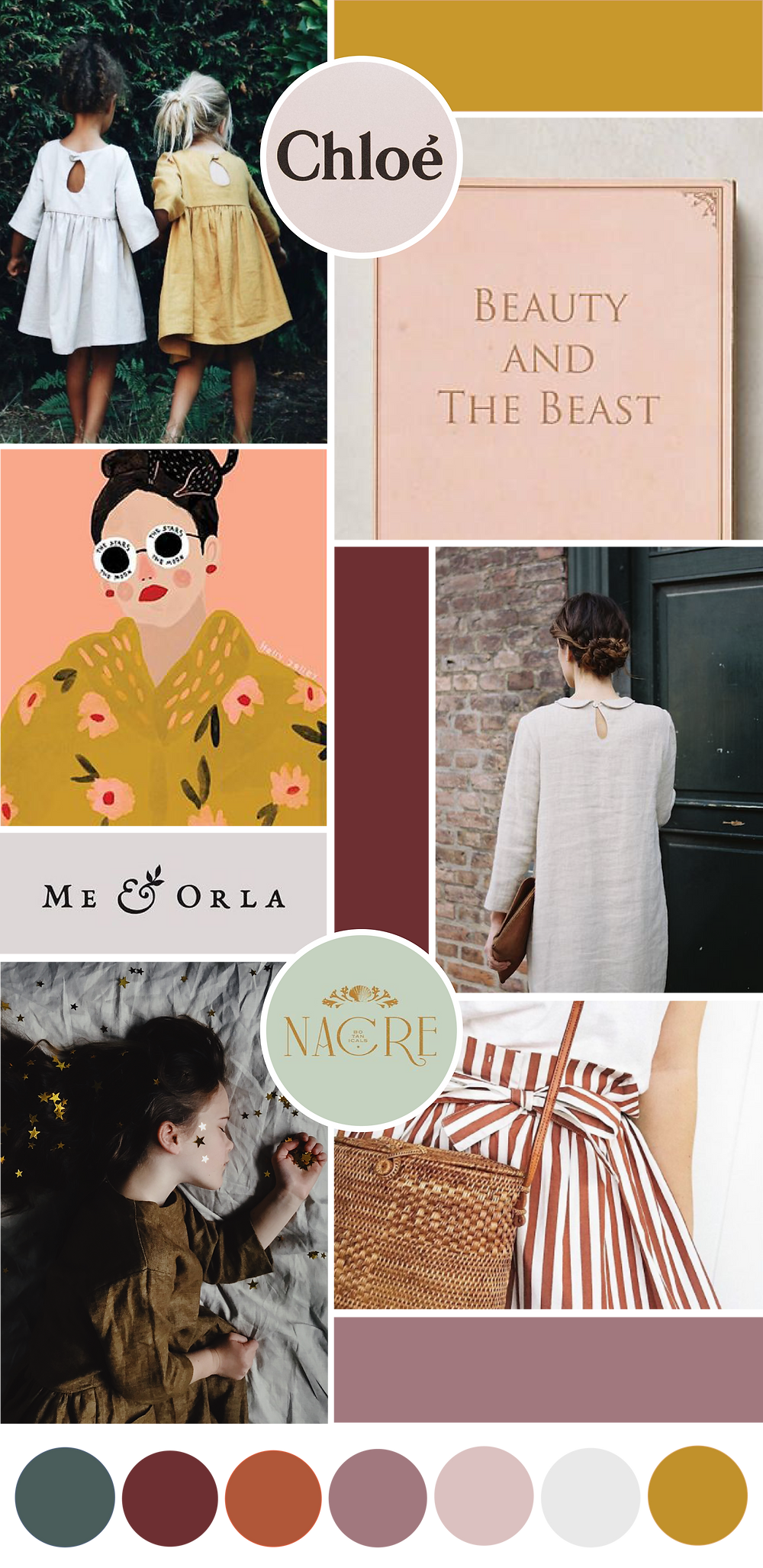 Mood board for Our Story Time | logo and branding design for creative ladies and small businesses