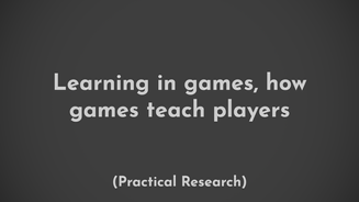 Research on experiential learning put against traditional knowledge based learning in the case of game tutorials.