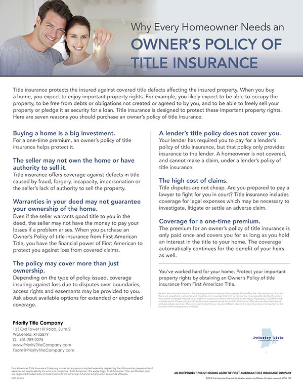 Why Every Homeowner Needs Title Insuranc