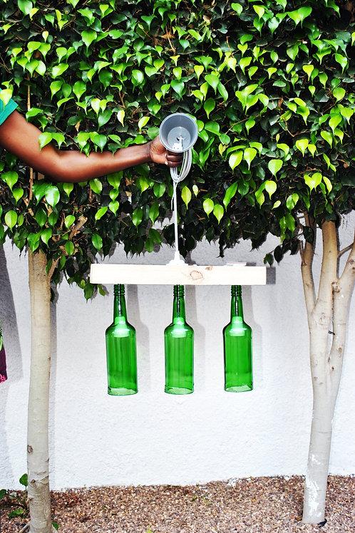 Candeeiro três garrafas