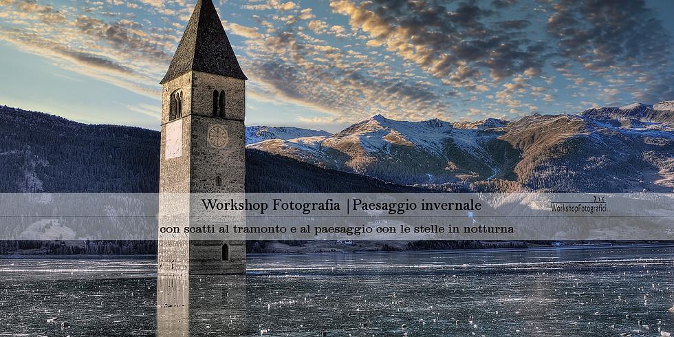 Lago di Resia - PRE_VENDITA Paesaggio invernale, tramonto & stelle
