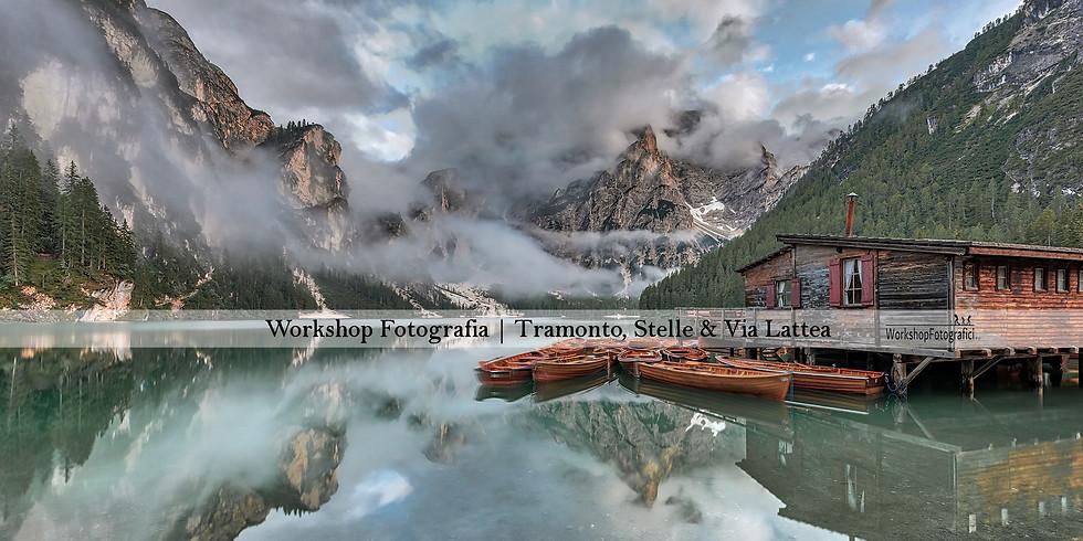 Lago di Braies - Tramonto, Stelle & Via Lattea