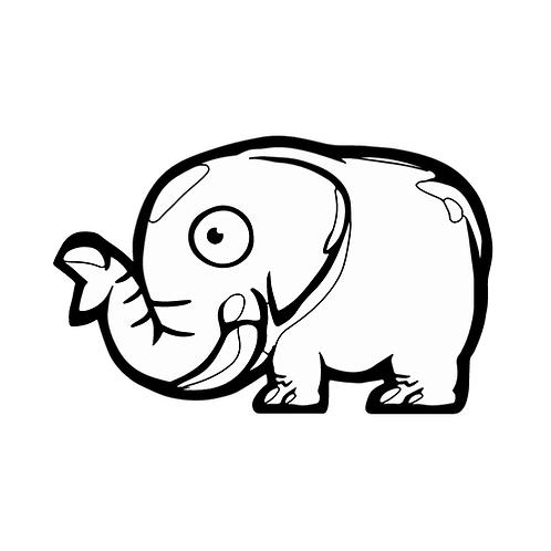 컬러룬 코끼리(10EA)