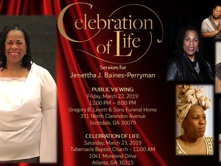 """In Memory of Jenettha """"JJ"""" Baines-Perryman"""