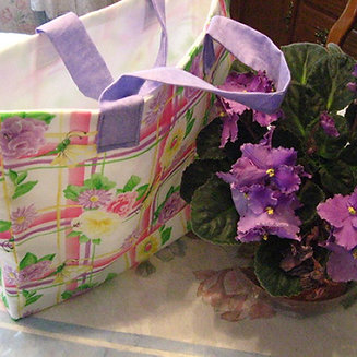 Floral Fabric Gift Bag / Tote Bag