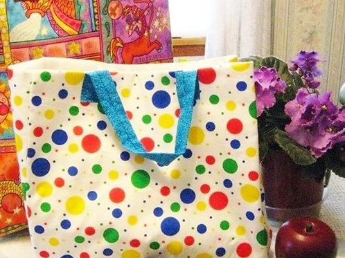 Polka Dot Gift Bag / Tote Bag