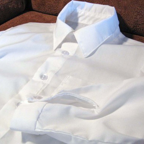 White Long Sleeve Dress Shirt for Boys