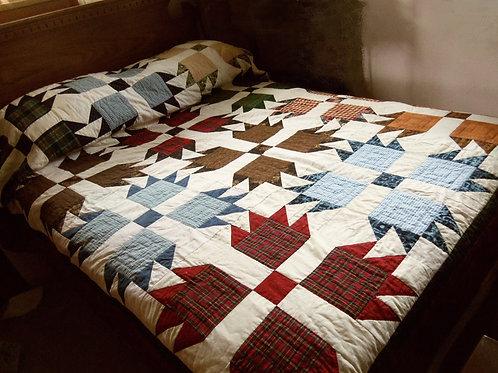 Bear Paw Quilt, Full Size, Handmade