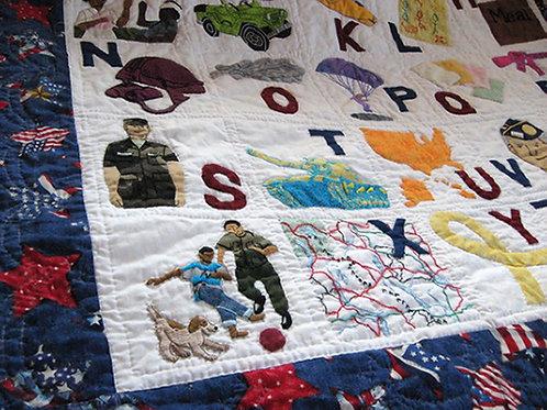 Armed Forces Alphabet Quilt
