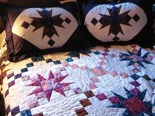 Autumn in Wine Country King Size Quilt with Shams, Handmade