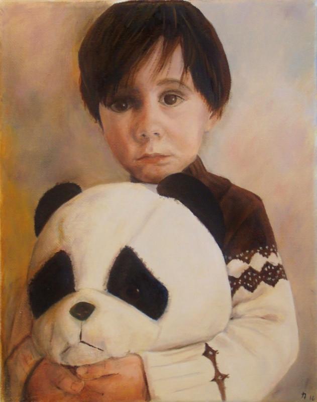 Boy With Stuffed Panda