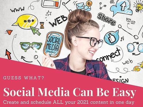 Social Media Can Be Easy Webinar