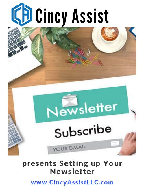 Setting up Your Newsletter Webinar