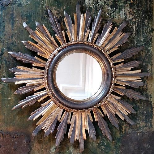 Fabulous Gilded Wooden Sunray Mirror
