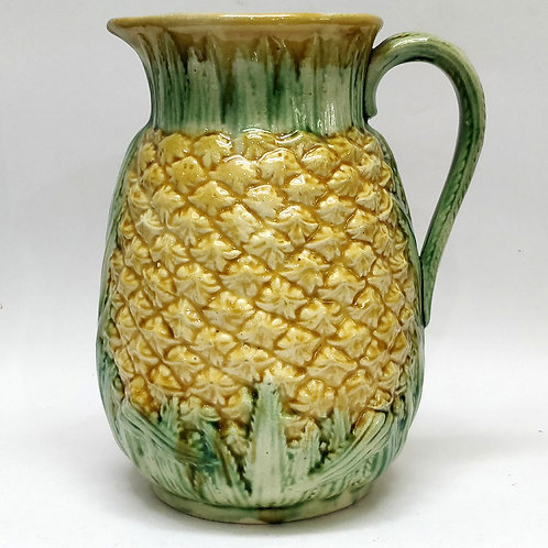 19th Century Pineapple Majolica Jug
