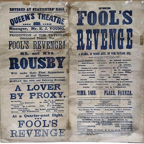 'The Fools Revenge' - The Queens Theatre Long Acre, Print