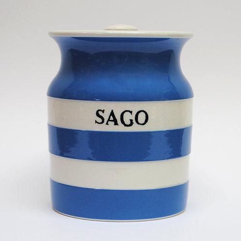 T G Green Cornishware Sago jar