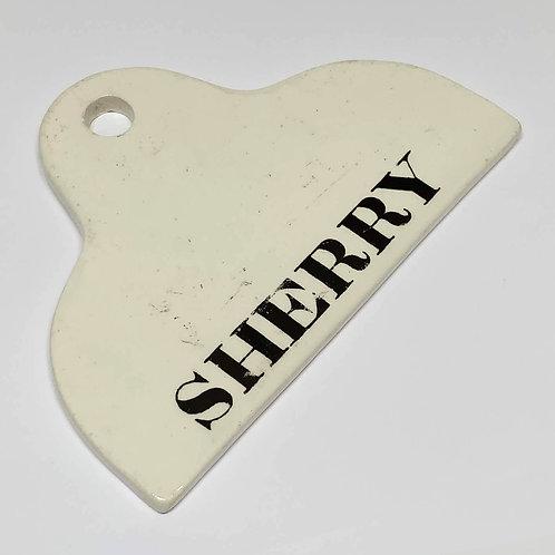 Creamware sherry label