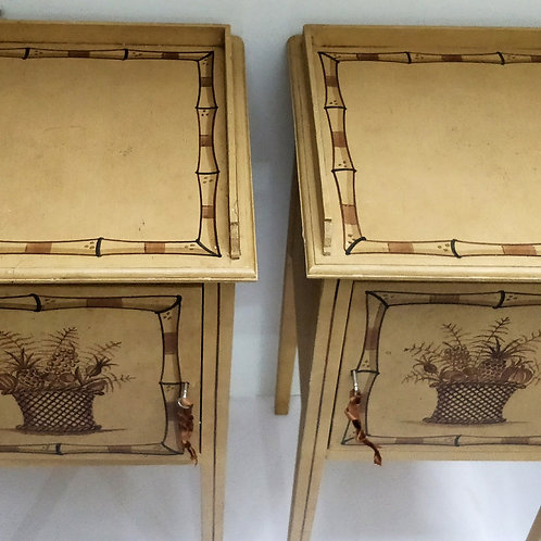 A Pair Of Hand-Painted Bedside Cabinets