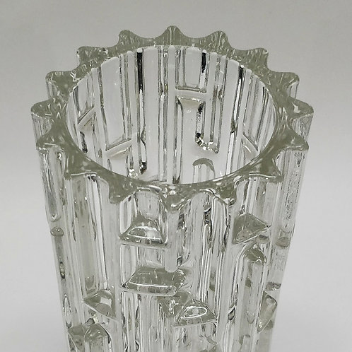A Very Heavy 1960's Glass Vase
