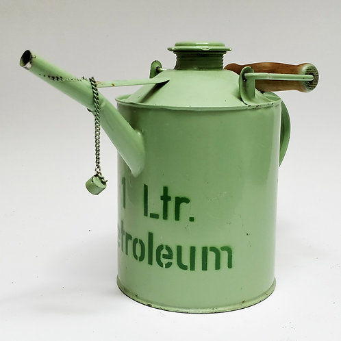 1ltr Green Painted Petroleum Can