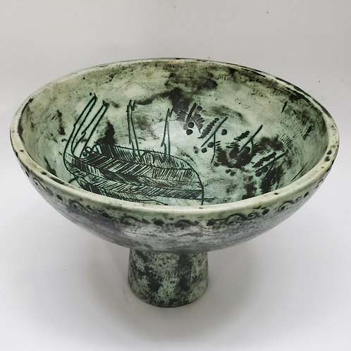 Large Ceramic Bowl c1960 By J Blin
