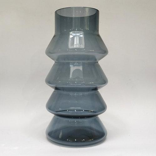 Large Whitefriars Smokey Blue Glass Vase