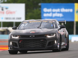 Strong run ends early for the Stevenson Motorsports Camaro GT4.R in Continental Tire SportsCar Chall