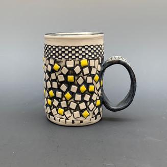 Mug with Squares of Yellow