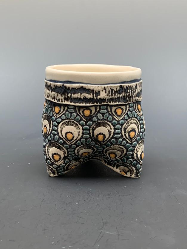 Hand Build 3 footed Tea Mug