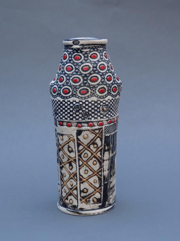 Textured Shoulder Vase