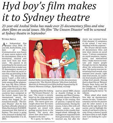 in today's THE HANS INDIA...news paper..