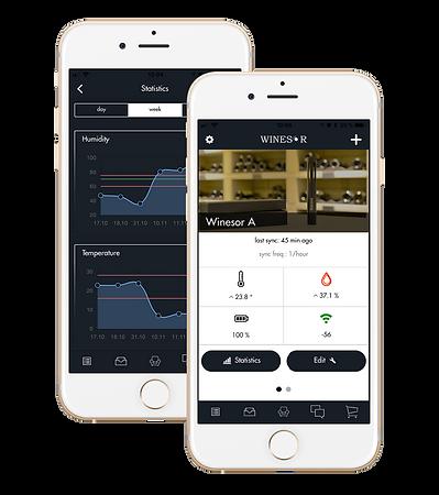 winesor app connected winesensor humidor